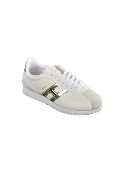 Kadın Altın Beyaz Günlük Ayakkabı 102 20001-g