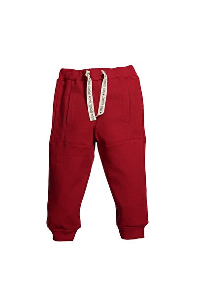 Erkek Çocuk Kırmızı Rahat Kesim Jogger Eşofman Altı 9ay-4yaş