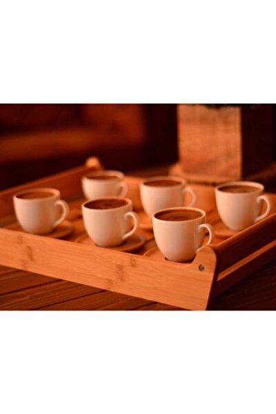 Beyaz Meyo 6 Kişilik Kahve Fincan Takımı B0294
