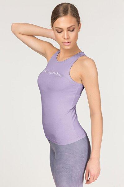 Kadın Mor Pamuklu Yoga Atleti 4018