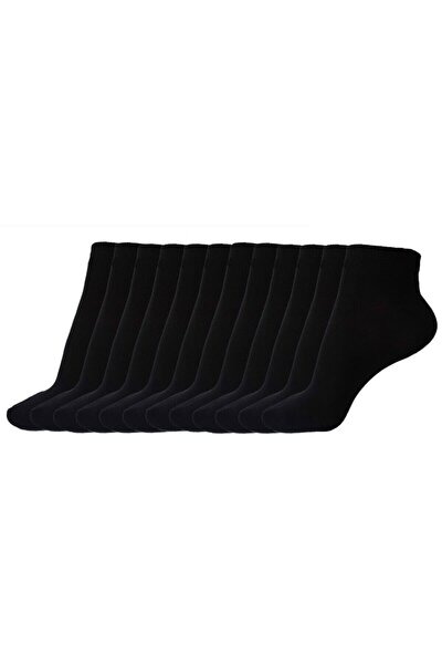 Pamuk Babet Çorap Siyah 12 Adet