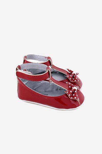 Bilekten Bağcıklı Fiyonklu Bebek Ayakkabı