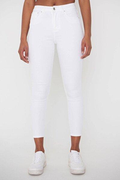 Kadın Beyaz Pantolon Pn4424 - Pnj ADX-00008543