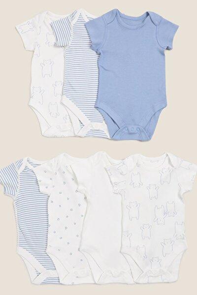Bebek Mavi 7'Li Organik Pamuklu Body Seti T78006033S