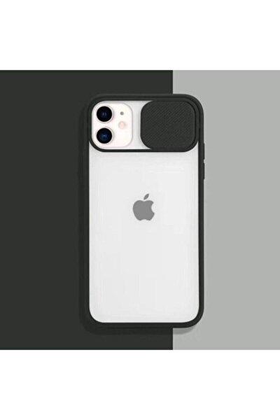 """Iphone 11 6.1"""" Kamera Lens Koruma Kapaklı Siyah Telefon Kılıfı"""