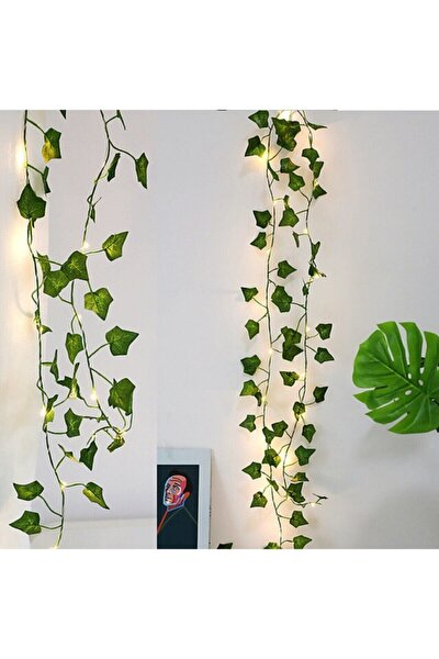 Dekoratif Yeşil Yapraklı Yapay Sarmaşık ve Peri Led Gün Işığı