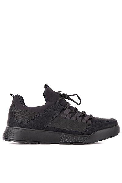 ZEBER Sneaker Erkek Ayakkabı Siyah Nubuk SA20RE040