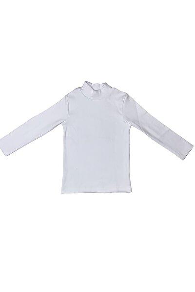 Çocuk Beyaz Balıkçı Yaka Tshirt