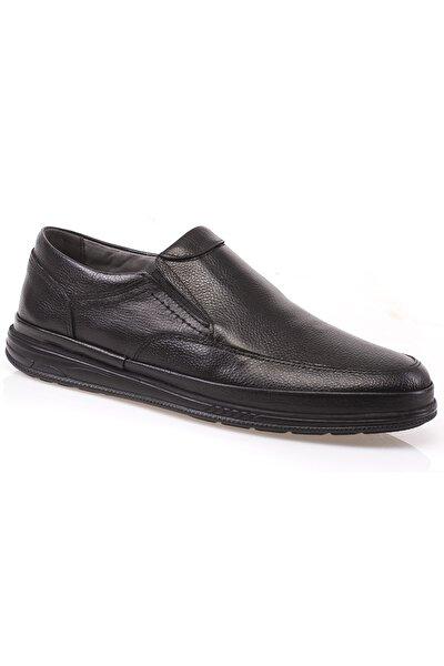 Hakiki Deri Bağcıksız Ortopedik Loafer Ayakkabı