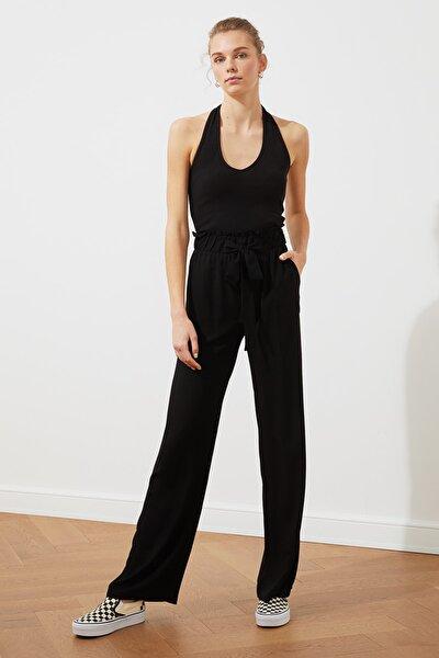 Siyah Bağlama Detaylı Pantolon TWOSS20PL0448