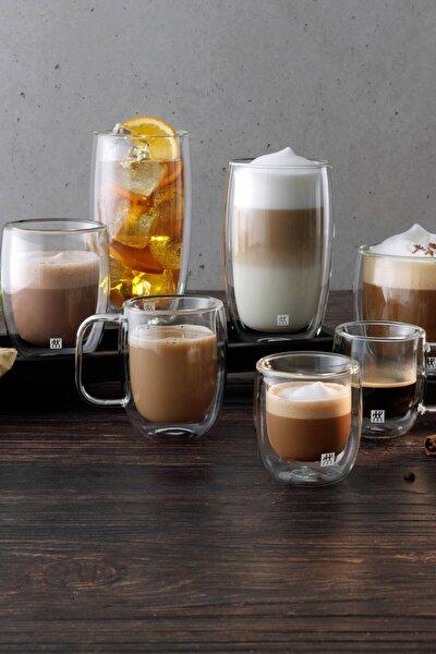 Çift Camlı Kulplu 2'li Latte Macchiato Bardak Seti 39500-114-0