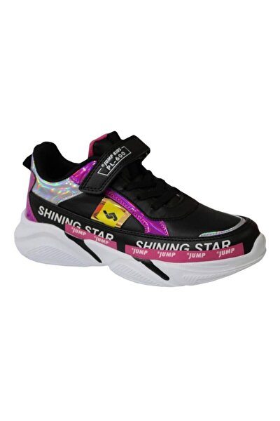 25791 Kız Çocuk Siyah Günlük Spor Ayakkabı