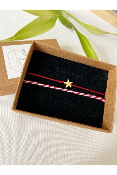 Yıldızlı Kırmızı Bileklik Ve Kırmızı Beyaz Marteniçka Set