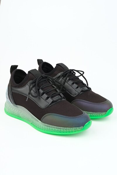 Monle Kadın Streç Sneaker Spor Ayakkabısiyah