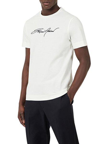 Erkek Baskılı Bisiklet Yaka % 100 Pamuk T Shirt