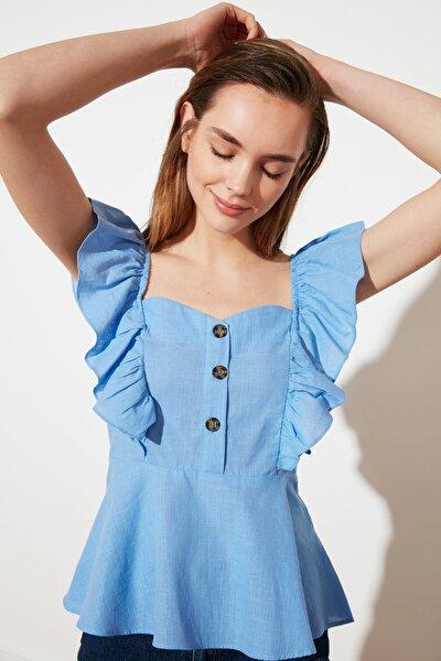 Mavi Düğme Detaylı Bluz TWOSS20BZ1268
