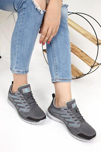 Kadın Gri Yürüyüş Ayakkabısı Selena