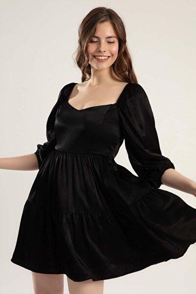 Kadın 3/4 Kollu Sırt Dekolteli Elbise Y20s102-6022