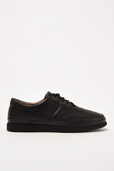 Hakiki Deri Siyah Erkek Sneaker 02AYH210890A100