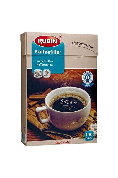 Büyük Boy Kahve Filtresi No:4 Doğal Kahverengi Renkli 100 Adet Filtre