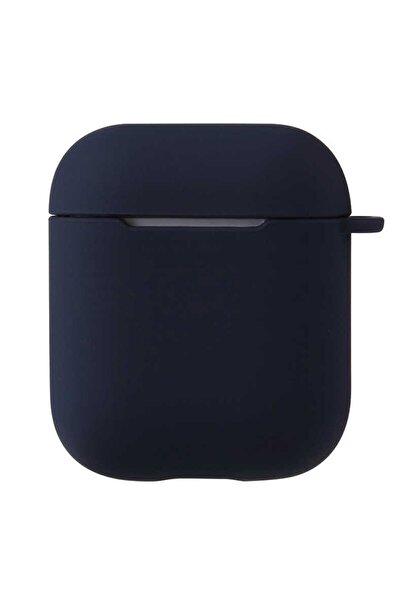Airpods 2. Nesil Uyumlu Kılıf Pastel Renkli Silikon Koruma Kopçalı Siyah