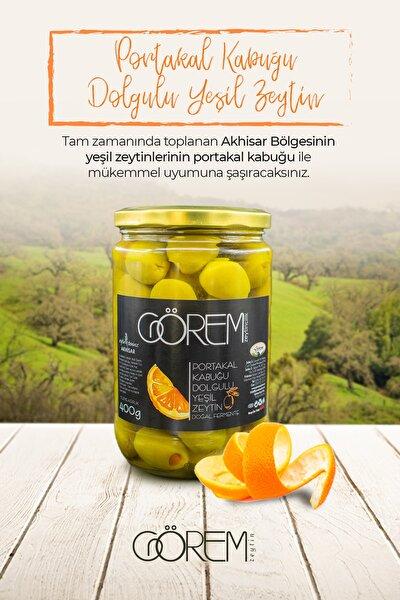 Portakal Dolgulu Yeşil Zeytin 400 Gr. Cam Ambalaj
