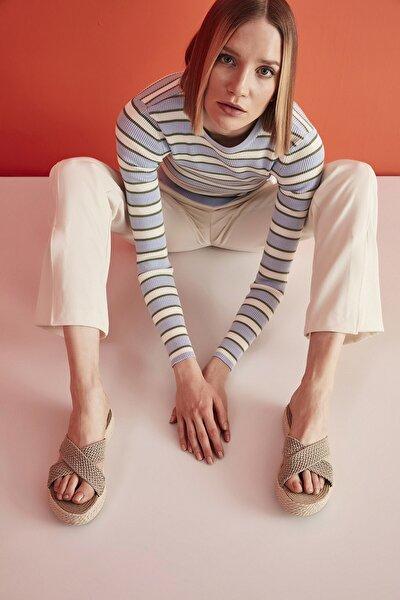 Tekstil Vizon Kadın Terlik 01TEY208870A450
