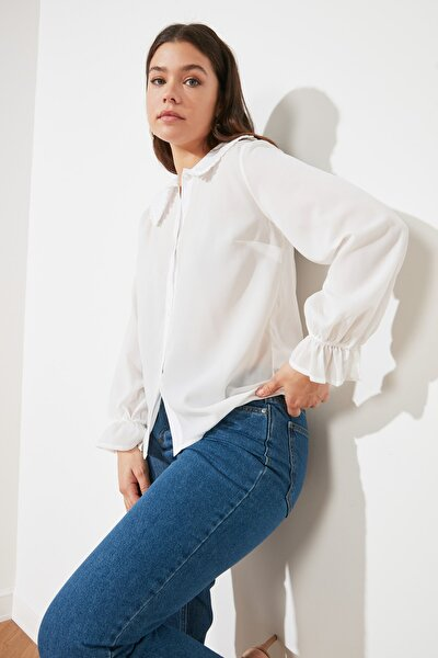 Beyaz Yaka Detaylı Gömlek TWOAW21GO0717