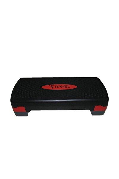 ( İki ) 2 Kademeli Step Tahtası RV 444 Siyah Kırmızı