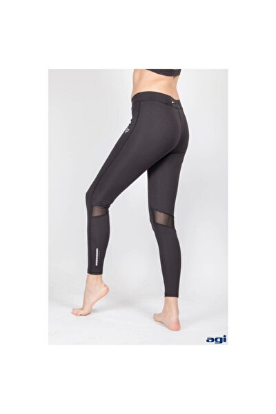Kadın Siyah Easy Fit Fitness Tayt