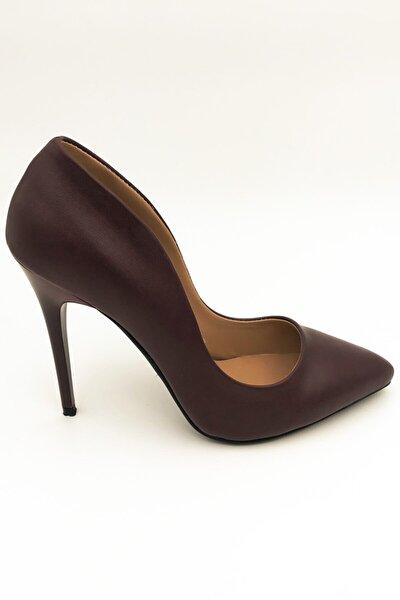 Kadın Bordo Stiletto  Ayakkabı