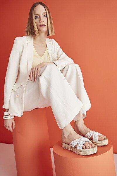 Tekstil Beyaz Kadın Terlik 01TEY208870A900