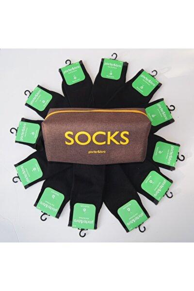 Çanta Hediyeli 12 Li Siyah Çorap