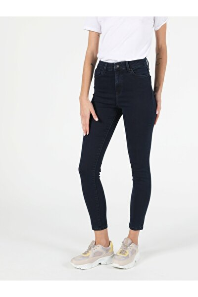 760 Dıana Super Slim Fit Yüksek Bel Skinny Leg Kadın Koyu Indigo Jean Pantolon