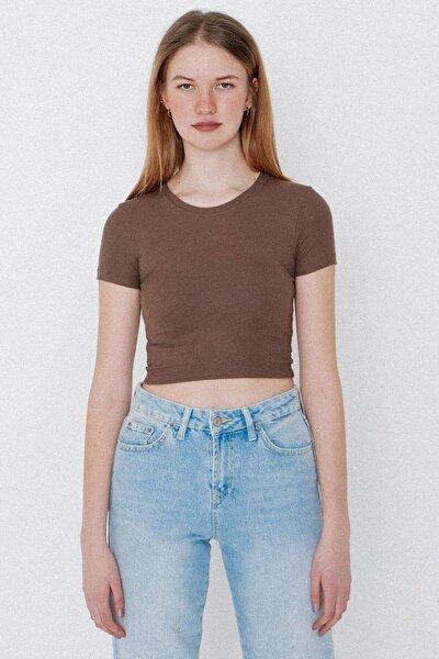 Kadın Vizon Basic T-shirt P1113 - X1 ADX-0000023692