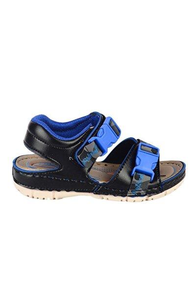 Erkek Çocuk Siyah Cırtlı Yazlık Sandalet 5505