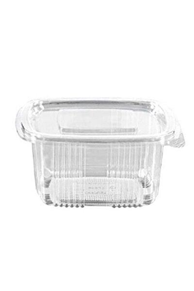 Plastik Sızdırmaz Kap 500 gr Cc Kullan At Tek Kullanımlık Plastik Kapaklı Kase 100 Adet