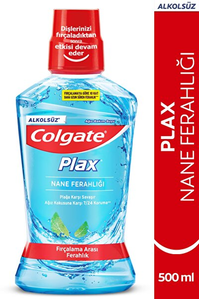 Plax Nane Ferahlığı Plağa Karşı Alkolsüz Ağız Bakım Suyu 500 ml