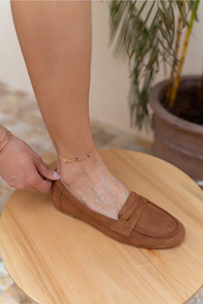 Varga Kadın Taba Gercek Suet Babet Ayakkabi