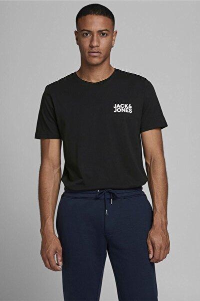 Erkek Siyah Logo O Yaka Erkek Tshirt 12151955sg