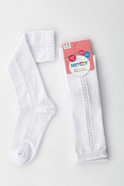 Semoor Kız Çocuk Çavuş Şeritli Okul Çorabı Pamuklu 4321-01