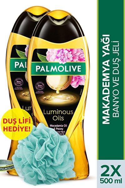 Luminous Oils Makademya Yağı & Şakayık Özleri Banyo Ve Duş Jeli 2x500 ml + Duş Lifi Hediye