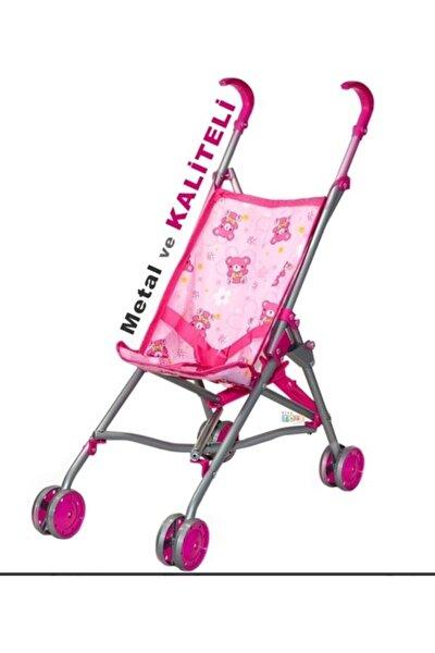 Metal Katlanabilir Bebek Arabası Oyuncak Puset