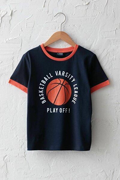 Erkek Çocuk Koyu Mavi Dsg T-Shirt