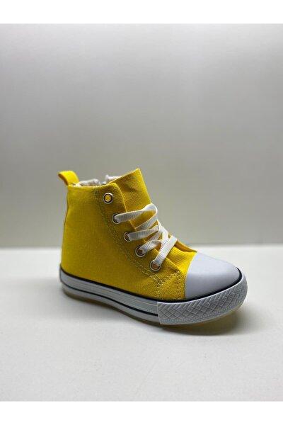 Punto Sarı Işıklı Fermuarlı Spor Ayakkabı