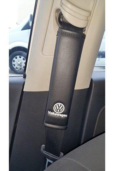 Volkswagen Deri Emniyet Kemer Kılıfı Siyah Iki Adet