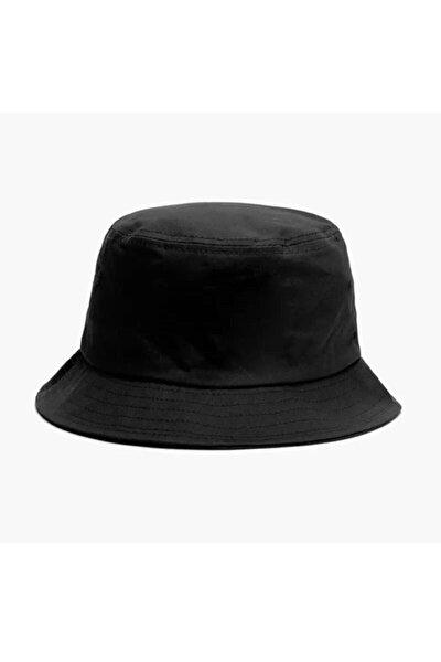 Düz Siyah Kova Şapka Balıkçı Şapka