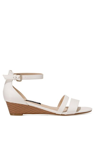 BRALLAN 1FX Beyaz Kadın Düz Sandalet 101027442