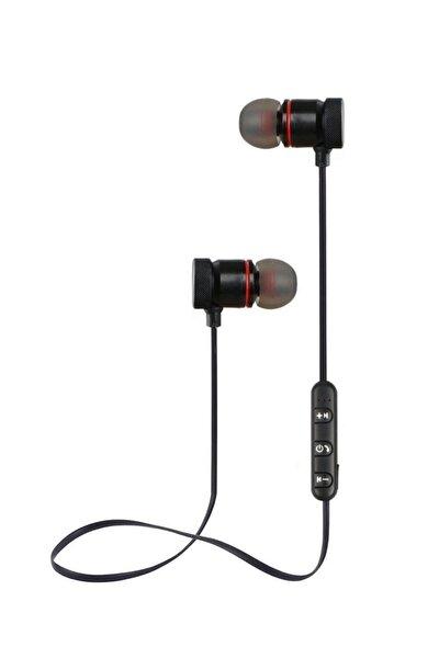 Kablosuz Mıknatıslı Mikrofonlu Bluetooth Kulaklık Siyah