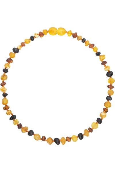 4 Renkli (multicolor) Parlak Barok Baltık Kehribar Bebek Diş Kolyesi (33 Cm) (unisex)